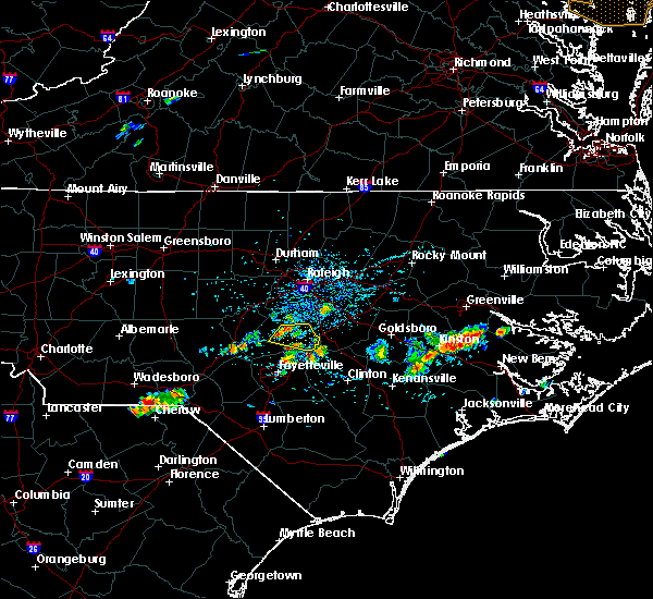 Radar Image for Severe Thunderstorms near Plain View, NC at 6/24/2018 3:48 PM EDT