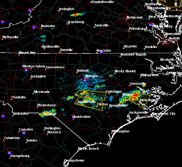 Radar Image for Severe Thunderstorms near Plain View, NC at 6/24/2018 4:01 PM EDT