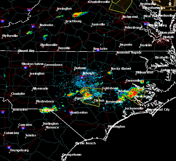 Radar Image for Severe Thunderstorms near Plain View, NC at 6/24/2018 4:13 PM EDT