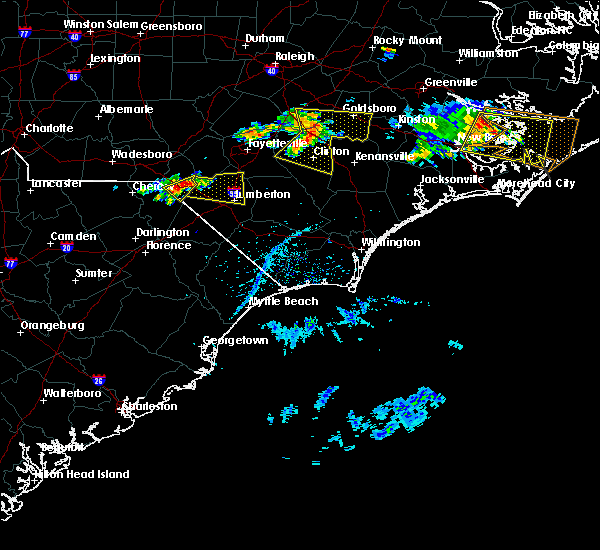 Radar Image for Severe Thunderstorms near Pembroke, NC at 6/24/2018 4:38 PM EDT