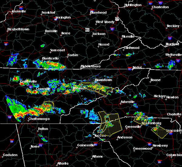 Radar Image for Severe Thunderstorms near Newport, TN at 6/24/2018 4:44 PM EDT