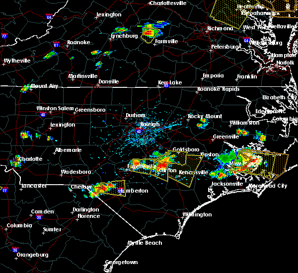 Radar Image for Severe Thunderstorms near Fayetteville, NC at 6/24/2018 4:50 PM EDT
