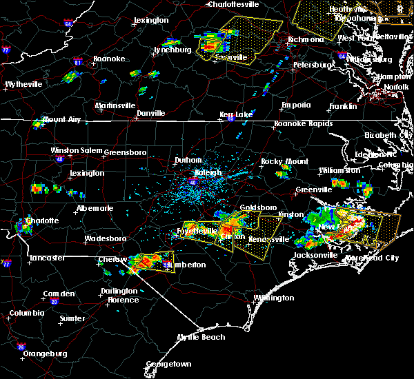 Radar Image for Severe Thunderstorms near Mount Olive, NC at 6/24/2018 4:57 PM EDT