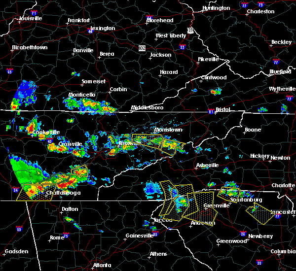 Radar Image for Severe Thunderstorms near Newport, TN at 6/24/2018 5:00 PM EDT