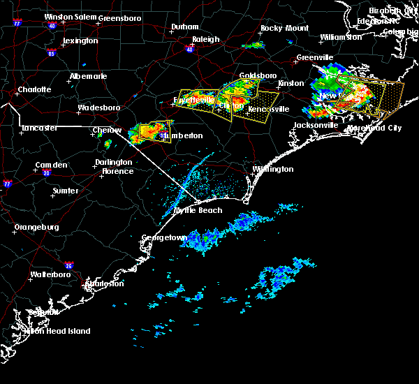Radar Image for Severe Thunderstorms near Pembroke, NC at 6/24/2018 5:06 PM EDT