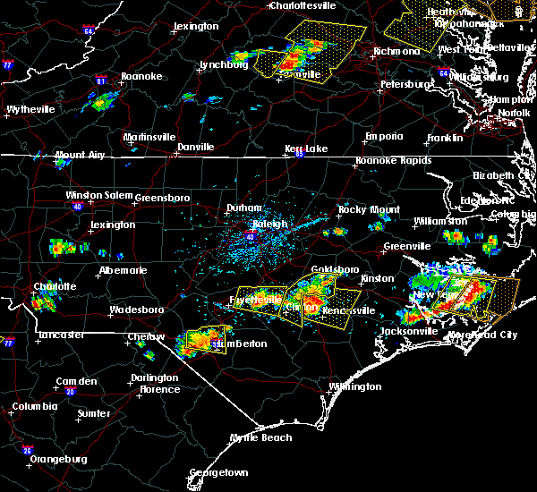Radar Image for Severe Thunderstorms near Clinton, NC at 6/24/2018 5:09 PM EDT