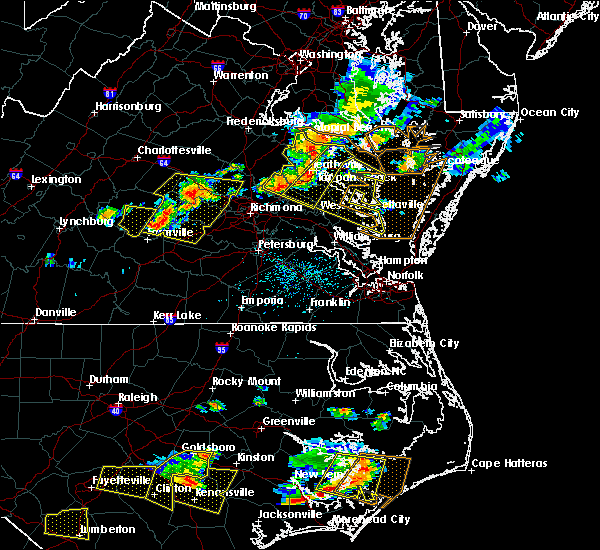 Radar Image for Severe Thunderstorms near West Point, VA at 6/24/2018 5:13 PM EDT