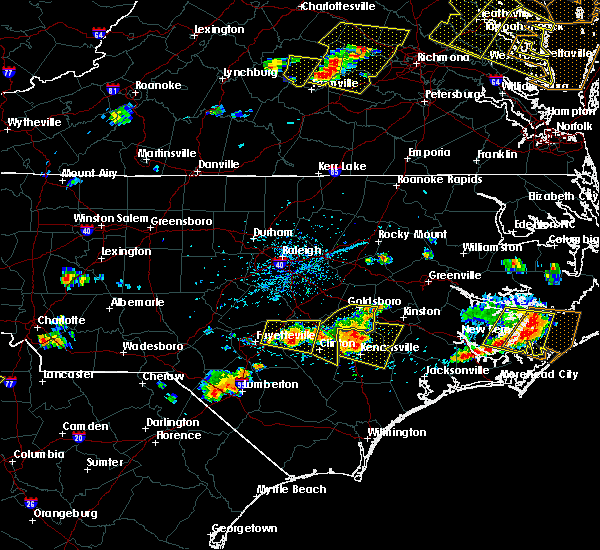 Radar Image for Severe Thunderstorms near Fayetteville, NC at 6/24/2018 5:16 PM EDT
