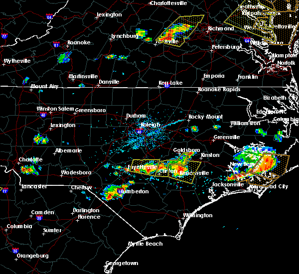 Radar Image for Severe Thunderstorms near Mount Olive, NC at 6/24/2018 5:22 PM EDT