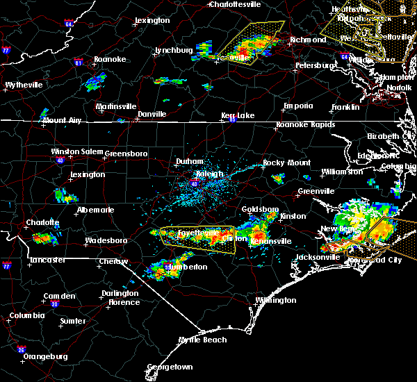 Radar Image for Severe Thunderstorms near Fayetteville, NC at 6/24/2018 5:32 PM EDT