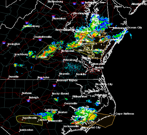 Radar Image for Severe Thunderstorms near King and Queen Court House, VA at 6/24/2018 5:32 PM EDT