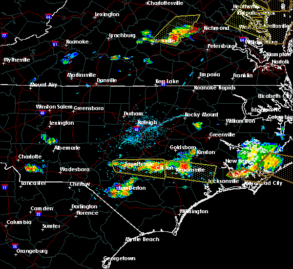 Radar Image for Severe Thunderstorms near Mount Olive, NC at 6/24/2018 5:36 PM EDT