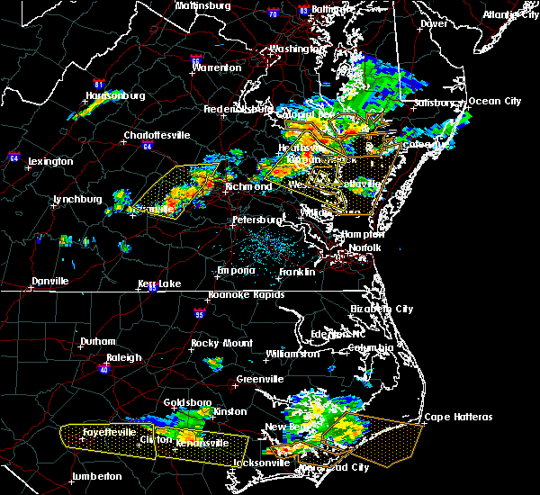 Radar Image for Severe Thunderstorms near Sandston, VA at 6/24/2018 5:38 PM EDT