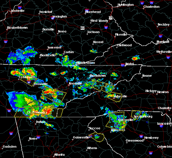 Radar Image for Severe Thunderstorms near Marshall, NC at 6/24/2018 5:44 PM EDT