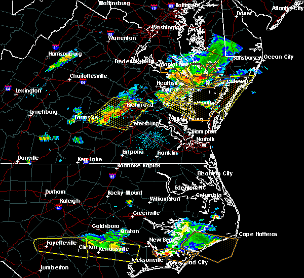 Radar Image for Severe Thunderstorms near West Point, VA at 6/24/2018 5:51 PM EDT