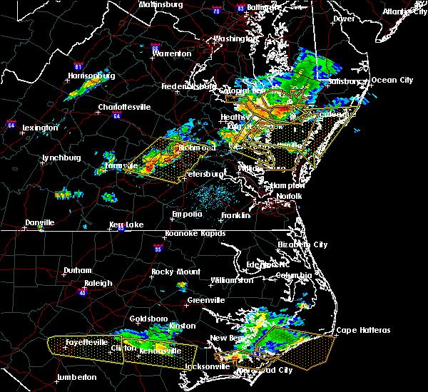 Radar Image for Severe Thunderstorms near Heathsville, VA at 6/24/2018 5:51 PM EDT