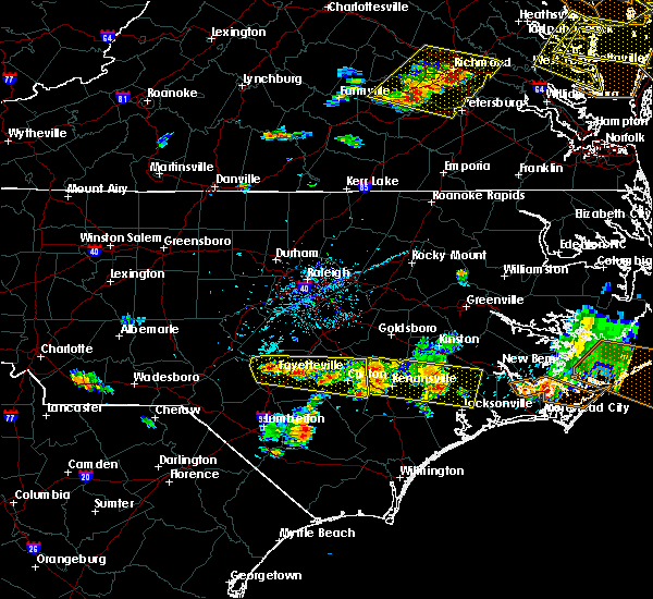 Radar Image for Severe Thunderstorms near Fayetteville, NC at 6/24/2018 5:54 PM EDT