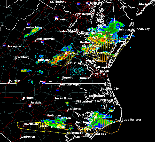 Radar Image for Severe Thunderstorms near Hopewell, VA at 6/24/2018 5:58 PM EDT