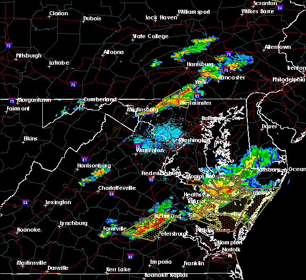 Radar Image for Severe Thunderstorms near Antietam, MD at 6/24/2018 6:01 PM EDT
