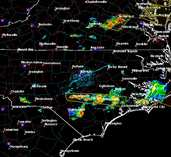 Radar Image for Severe Thunderstorms near Jacksonville, NC at 6/24/2018 6:01 PM EDT
