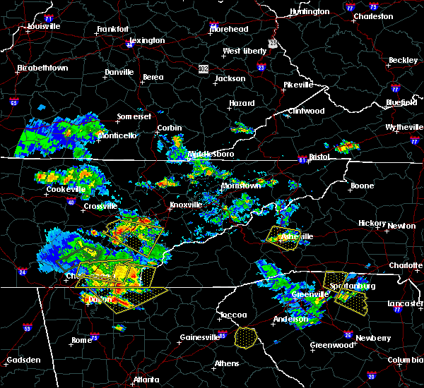 Radar Image for Severe Thunderstorms near Tazewell, TN at 6/24/2018 6:04 PM EDT