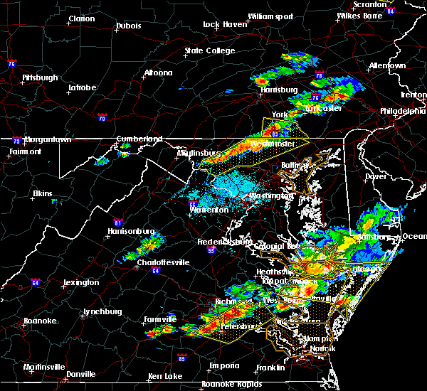 Radar Image for Severe Thunderstorms near Westminster, MD at 6/24/2018 6:20 PM EDT
