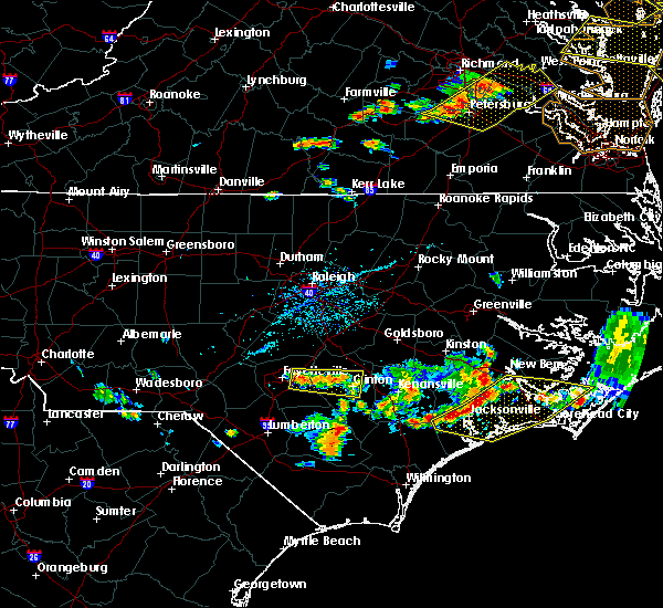 Radar Image for Severe Thunderstorms near Vander, NC at 6/24/2018 6:23 PM EDT