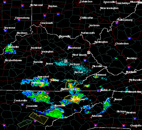 Radar Image for Severe Thunderstorms near Loyall, KY at 6/24/2018 6:57 PM EDT