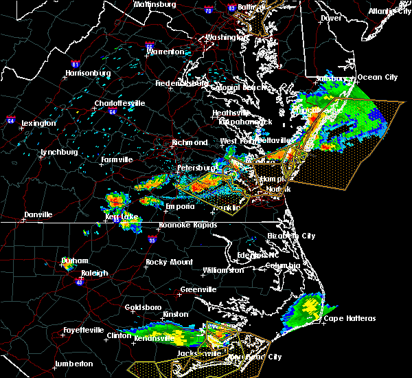 Radar Image for Severe Thunderstorms near Belle Haven, VA at 6/24/2018 7:18 PM EDT