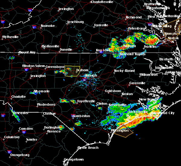 Radar Image for Severe Thunderstorms near Durham, NC at 6/24/2018 7:53 PM EDT