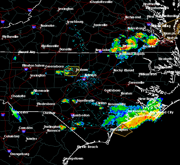 Radar Image for Severe Thunderstorms near Durham, NC at 6/24/2018 8:00 PM EDT