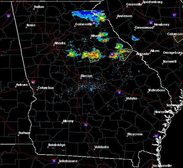 Radar Image for Severe Thunderstorms near Thomson, GA at 6/24/2018 8:30 PM EDT
