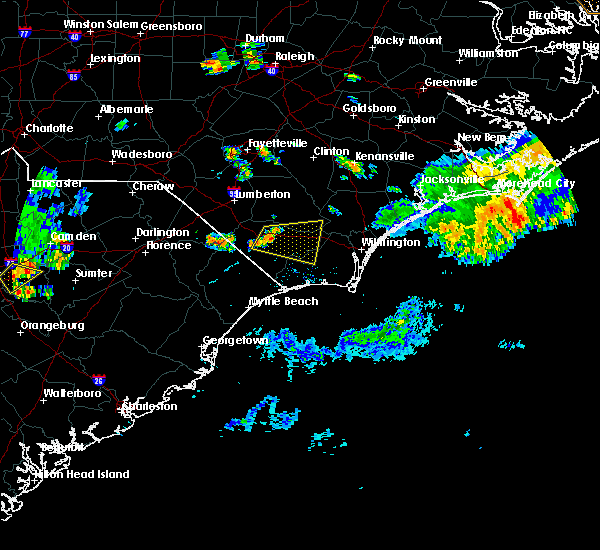 Radar Image for Severe Thunderstorms near Sandyfield, NC at 6/24/2018 8:37 PM EDT