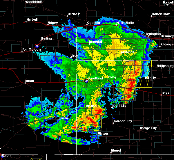 Radar Image for Severe Thunderstorms near Marienthal, KS at 6/24/2018 8:00 PM CDT
