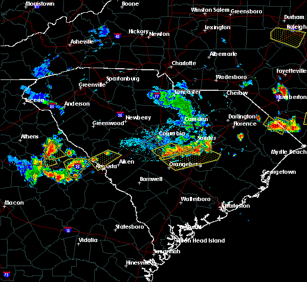 Radar Image for Severe Thunderstorms near Belvedere, SC at 6/24/2018 9:14 PM EDT