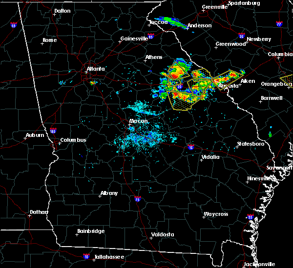 Radar Image for Severe Thunderstorms near Mitchell, GA at 6/24/2018 9:26 PM EDT