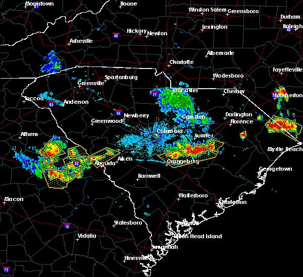 Radar Image for Severe Thunderstorms near Lincolnton, GA at 6/24/2018 9:28 PM EDT