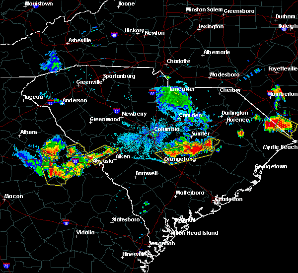 Radar Image for Severe Thunderstorms near Shiloh, SC at 6/24/2018 9:32 PM EDT