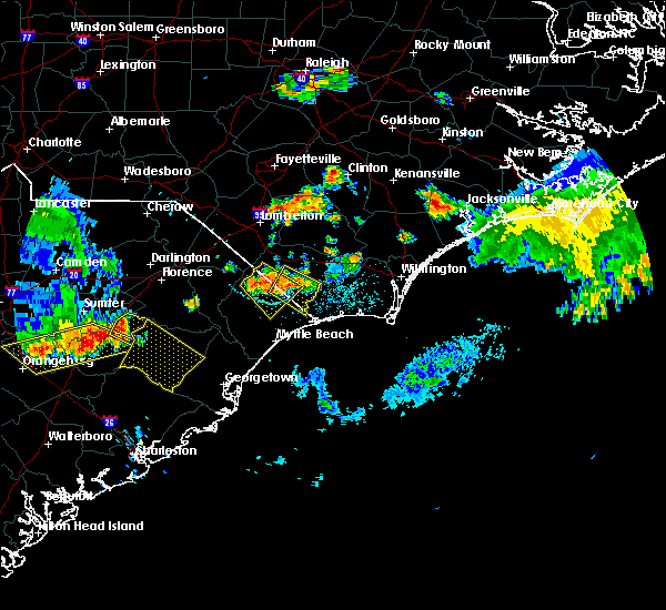 Radar Image for Severe Thunderstorms near Loris, SC at 6/24/2018 9:36 PM EDT