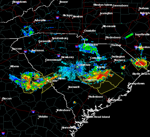 Radar Image for Severe Thunderstorms near Manning, SC at 6/24/2018 9:45 PM EDT