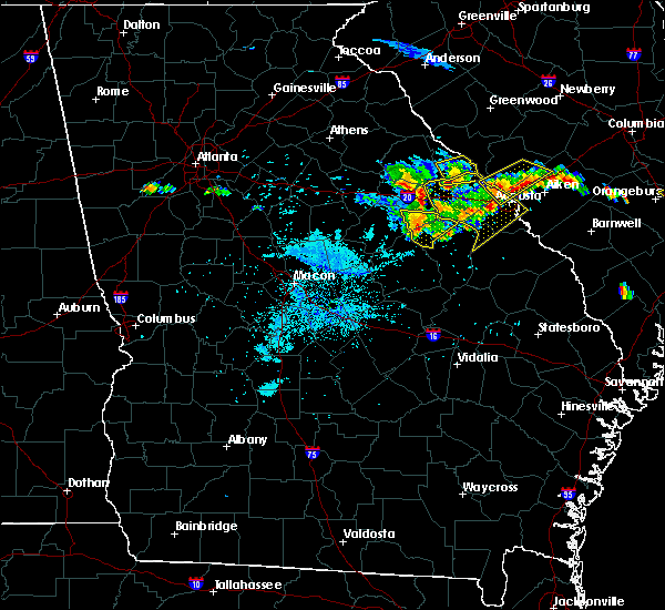 Radar Image for Severe Thunderstorms near Mitchell, GA at 6/24/2018 9:51 PM EDT