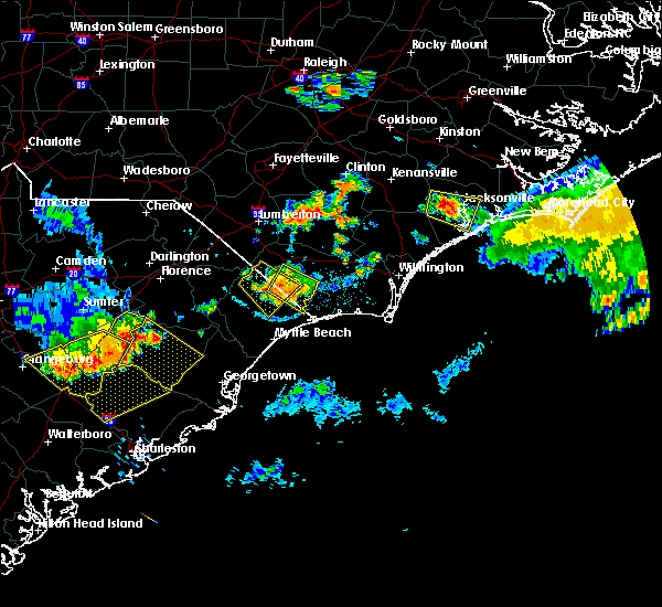 Radar Image for Severe Thunderstorms near Loris, SC at 6/24/2018 9:54 PM EDT