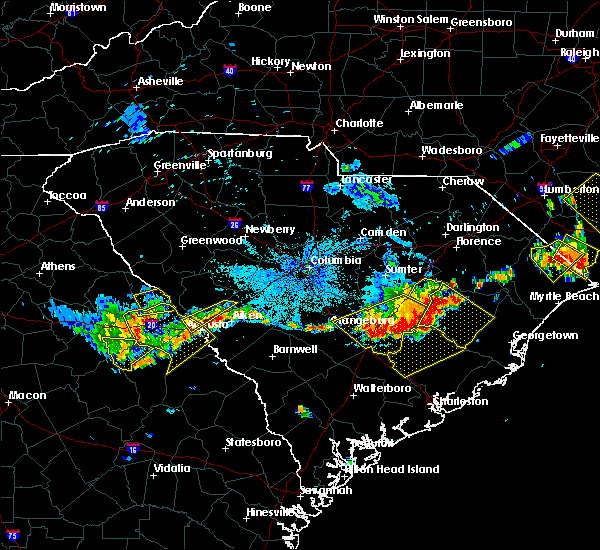 Radar Image for Severe Thunderstorms near Belvedere, SC at 6/24/2018 10:00 PM EDT