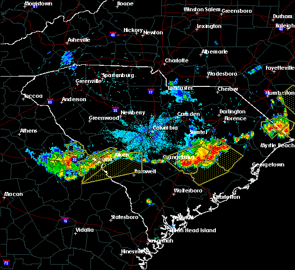 Radar Image for Severe Thunderstorms near Belvedere, SC at 6/24/2018 10:03 PM EDT