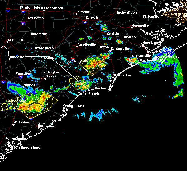 Radar Image for Severe Thunderstorms near Loris, SC at 6/24/2018 10:26 PM EDT