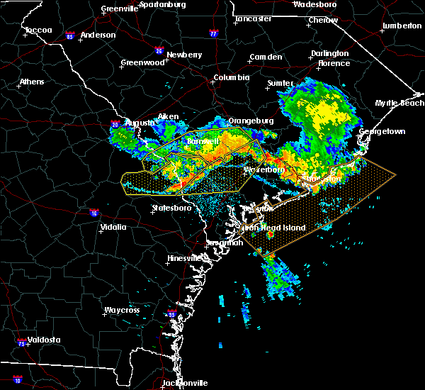 Radar Image for Severe Thunderstorms near Govan, SC at 6/24/2018 11:45 PM EDT