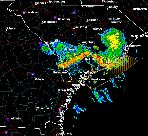 Radar Image for Severe Thunderstorms near Beaufort, SC at 6/25/2018 12:03 AM EDT