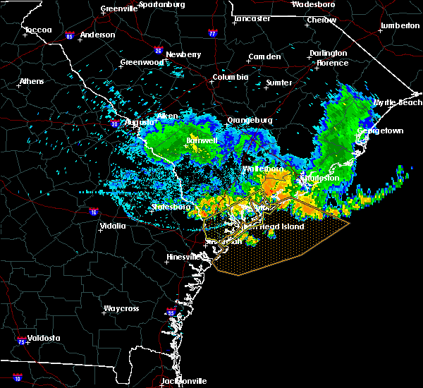 Radar Image for Severe Thunderstorms near Edisto Beach, SC at 6/25/2018 1:02 AM EDT
