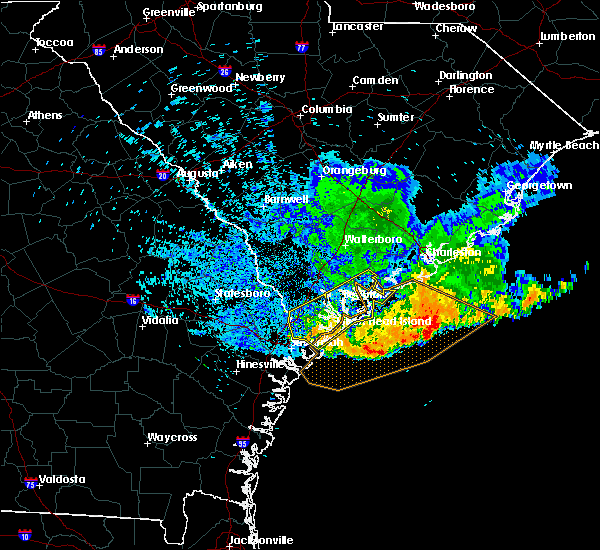 Radar Image for Severe Thunderstorms near Edisto Beach, SC at 6/25/2018 1:54 AM EDT