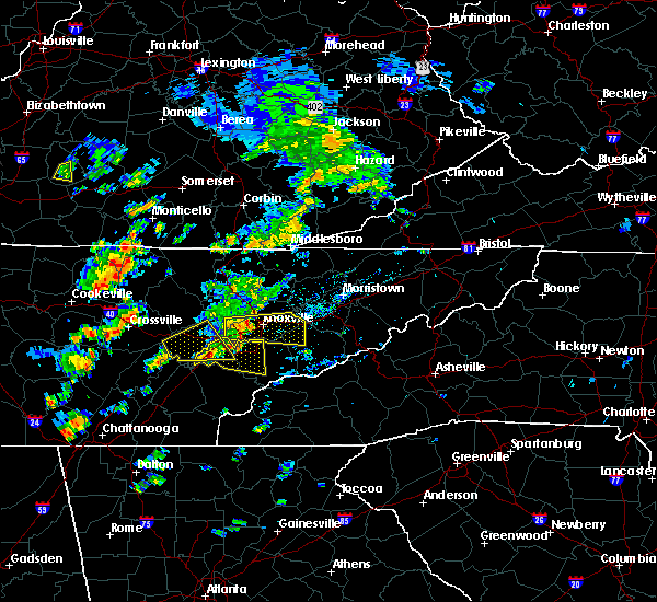 Radar Image for Severe Thunderstorms near Knoxville, TN at 6/25/2018 1:09 PM EDT
